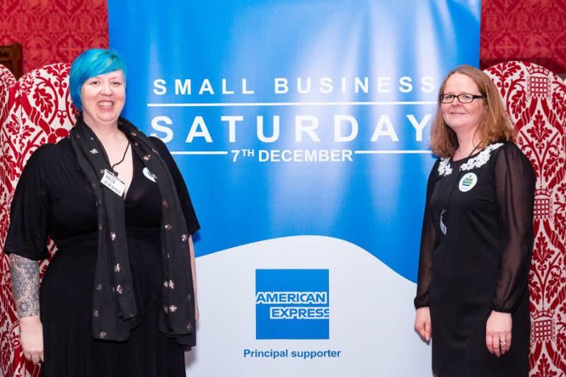 Hadi Brooks and Heather Greenwood at the SmallBiz100 awards 2019