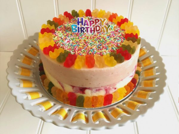Rays Ice Cream 2 tier Gummy Bear ice cream cake