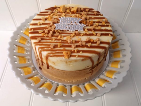 Rays Ice Cream honeycomb ice cream cake