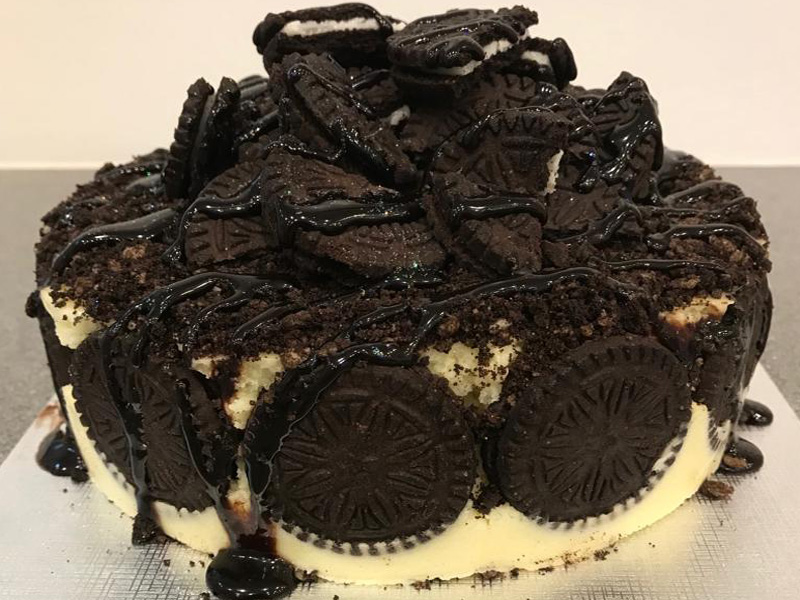 Vegan Oreo Ice Cream Cake 2 Tier From Rays Ice Cream Swindon