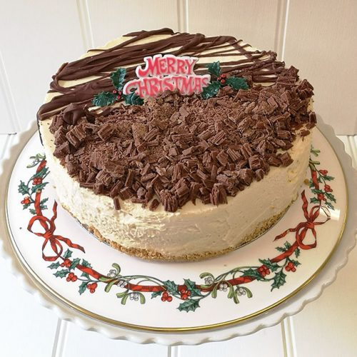 Baileys Cheesecake home made by Rays Ice Cream, Swindon for Christmas 2020
