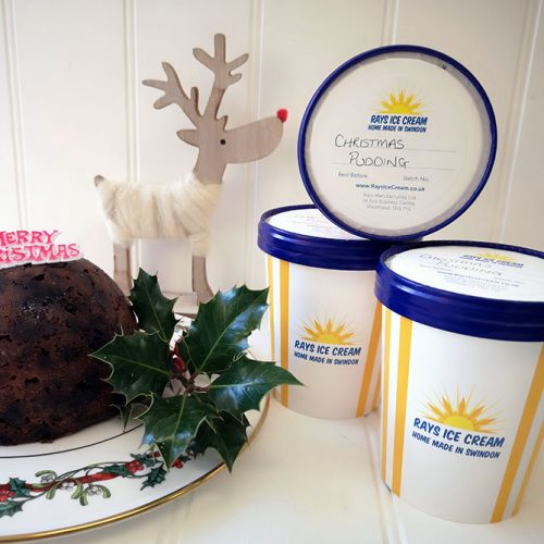 3 Tubs of Festive Ice Cream (500ml), from Rays Ice Cream, Swindon