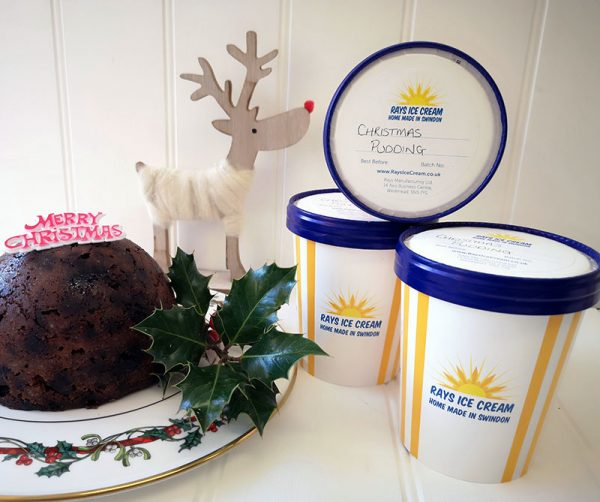 3 Tubs of Festive Ice Cream (500ml), from Rays Ice Cream, Swindon