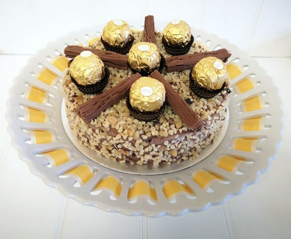 Ferrero Rocher Ice Cream Cake