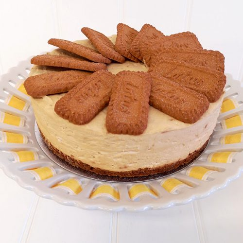 Home made Biscoff (Lotus biscuit) cheesecake from Rays Ice Cream, Swindon