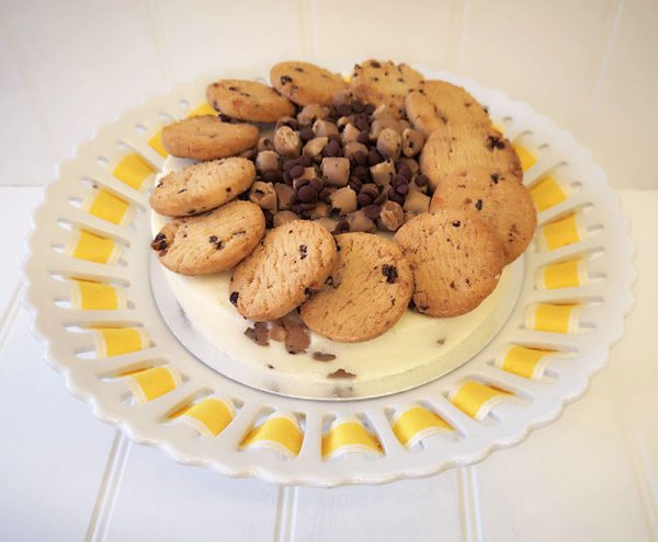 Cookie Dough Ice Cream Cake, home made by Rays Ice Cream, Swindon