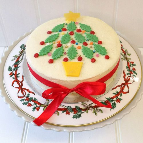 Christmas Tree Ice Cream Cake from Rays Ice Cream, Swindon