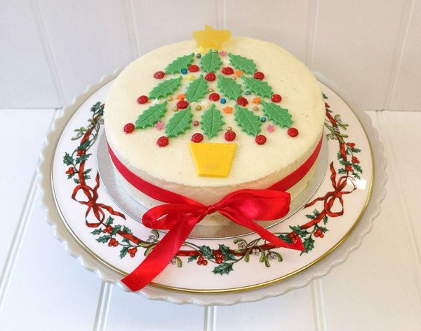 Christmas Tree Ice Cream Cake from Rays Ice Cream, Swindon